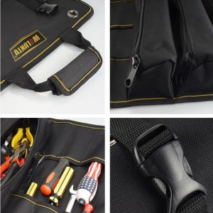 WOLUNTU® 1200D Tool roll pouch coiling block tool bag Roll Up Pouch black Coiling Block Bag Rolling Organizer