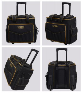 Rolling Tool Bags with Telescoping Handle and Oversize Wheels