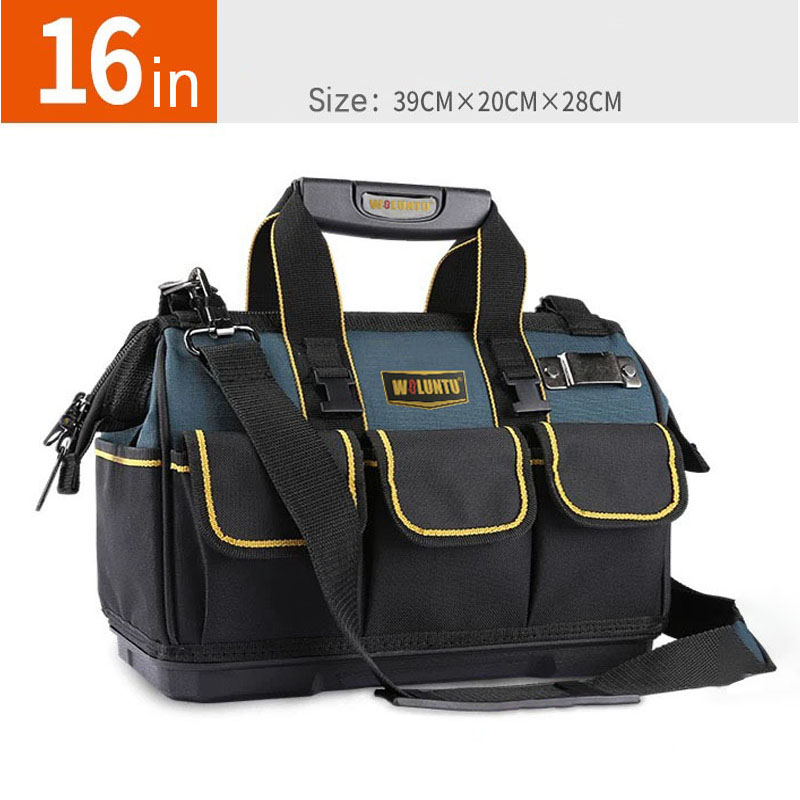 Heavy Duty Wide Mouth large capacity Tool Bag with thicken plastic bottom,16inches