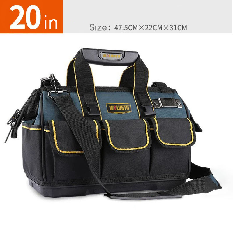 20-inch Multi-functional tool bag electrical storage Large Capacity large tool bag with thick plastic bottom