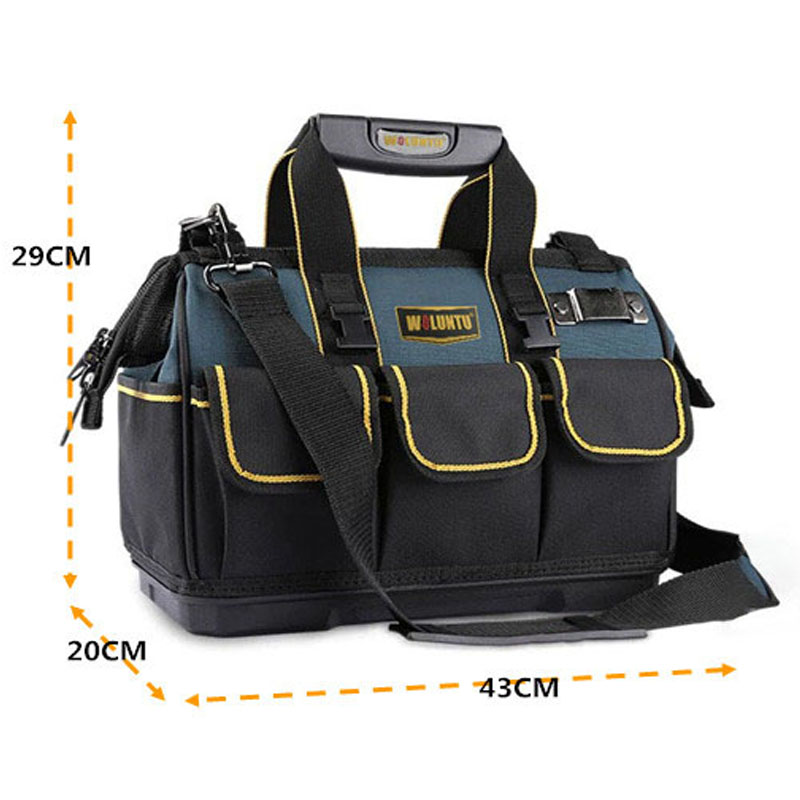 Multi-function-thickening-portable-tool-bag-large-capacity-shoulder-bag-with-plastic-bottom