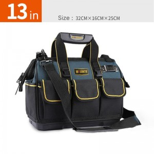 Multi-functional tool bag electrical appliances hardware installation and maintenance of storage  Large Capacity large tool bag with thicken plastic bottom,13inches