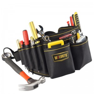 Heavy Duty Technician and Electrician's Waist Tool Bag with Multiple Pockets Organizer Tool Bag