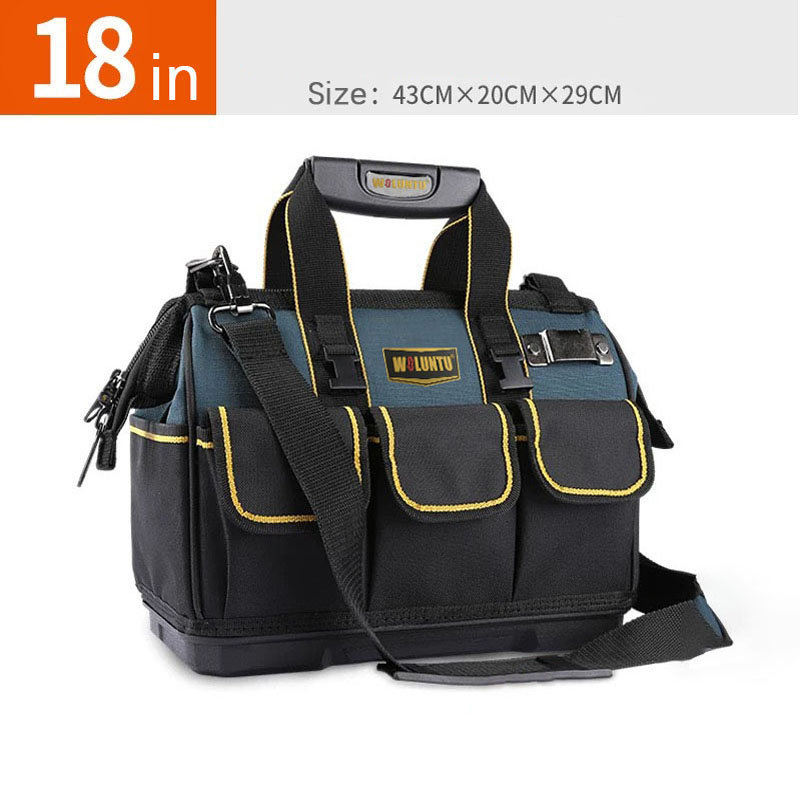 18-inch Woluntu Large Thicken Tool Bag Handbag Shoulder Bag Convenient Tool Bag, Thicken Tool Bag Shoulder Electrician bag  Thicken Tool Bag Shoulder Electrician bag plastic bottom