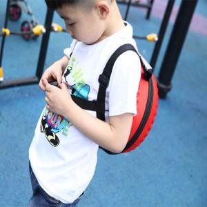 2019  New 3D Cartoon Car Tire Shape Backpack Children Zipper Bag Schoolbag for ABS Material Red
