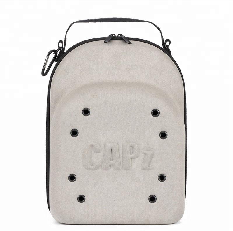 6 PK Baseball Cap Carrier EVA Travel Case Storage Hat Bag