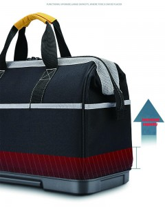 High quality waterproof Portable engineer canvas heavy duty electrician tools bag Shoulder Electrician bag plastic bottom