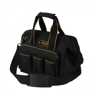 "Portable Electrician Tool Bag Multi-function Capacity Tote Bags Black (13"")"