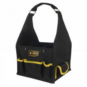 Adjustable New black Popular Open-top-design Carrying handle Pocket SOFT Square Tool bag Tool Carrier for wholesale